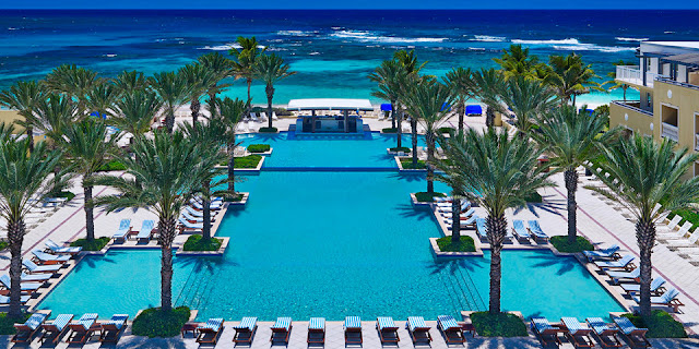 The Westin Dawn Beach Resort & Spa, St. Maarten sits on the edge of a private beach and offers spacious rooms and suites, some accommodating 6 to 8 people.