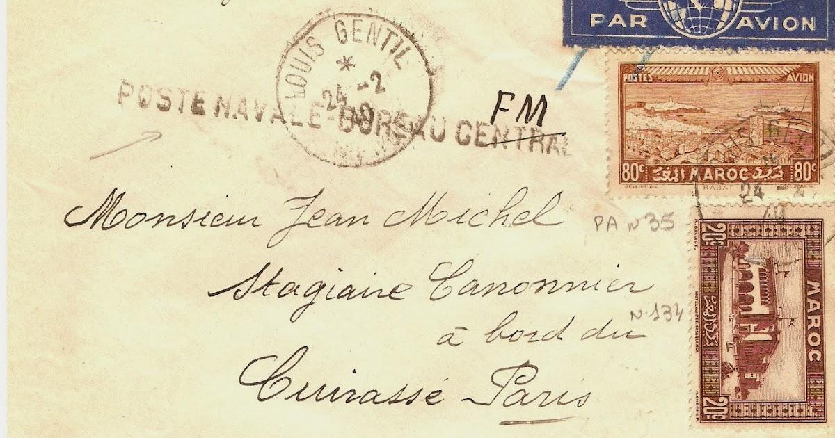 La marcophilie navale louis gentil maroc bureau central for Bureau de poste 13 rue d anjou