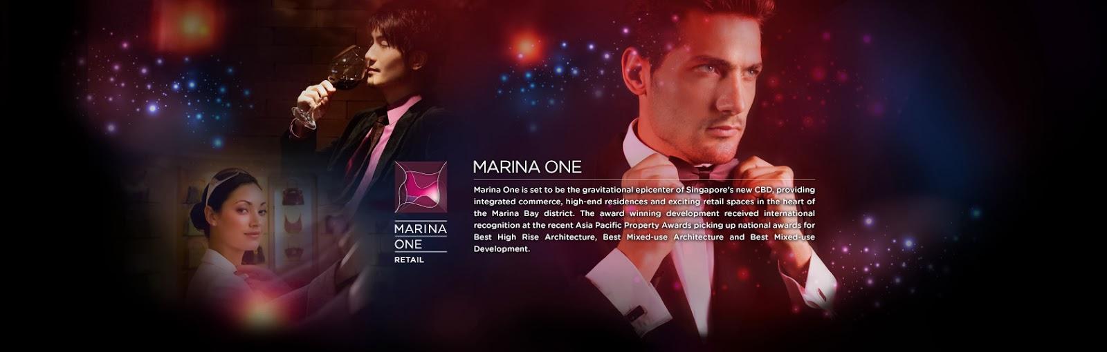 marina one retail the heart