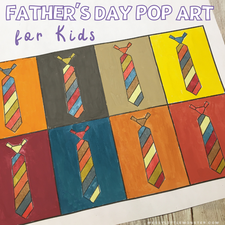 Tie Father's Day card for kids to make