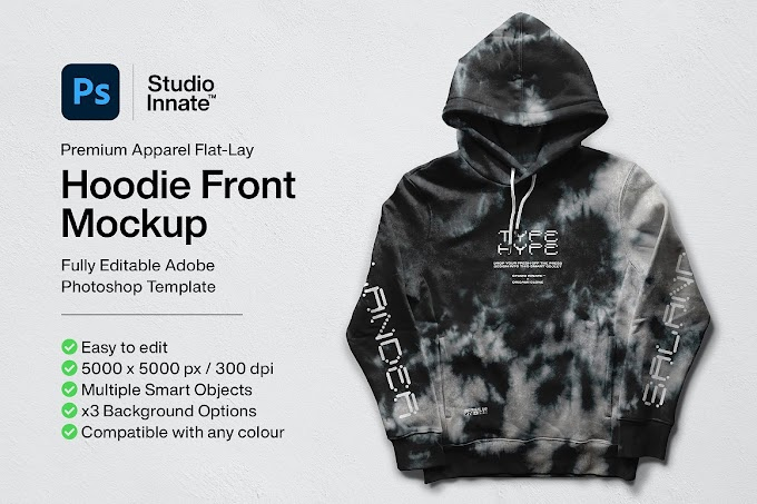 Hoodie Front Mockup[Photoshop][5478463]
