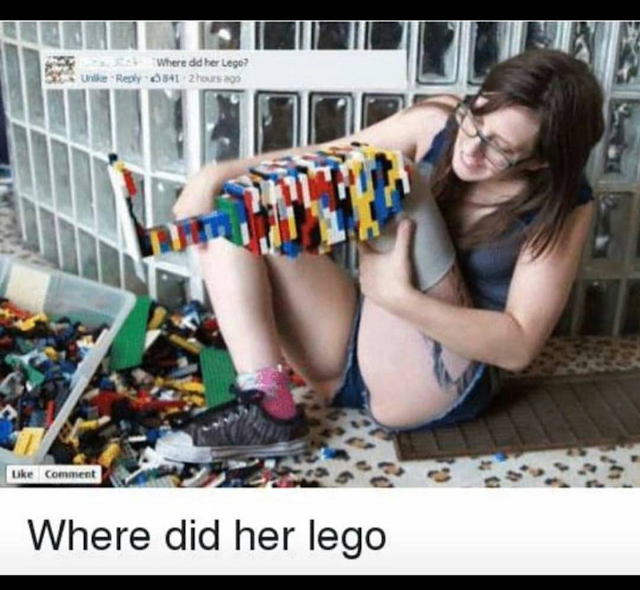 Funny Where Did Her Lego Picture