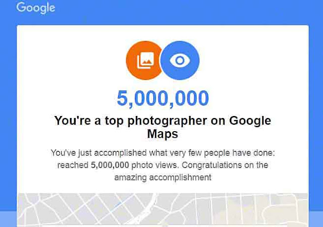 Screenshot, 5 Million Views, Google Maps