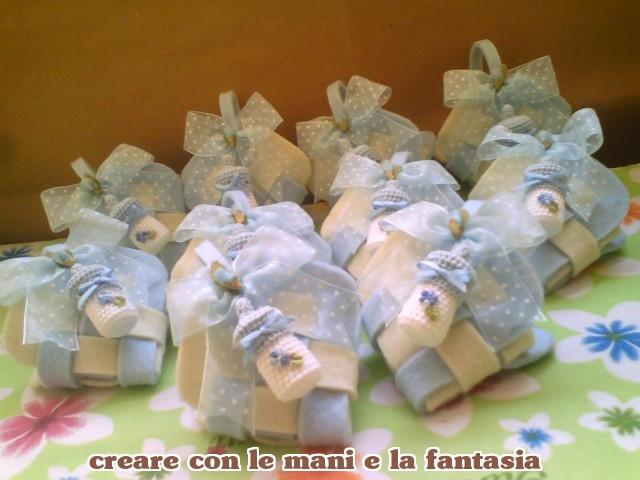 Amato CREARE CON LE MANI E LA FANTASIA: cuore con biberon bomboniere nascita KI97