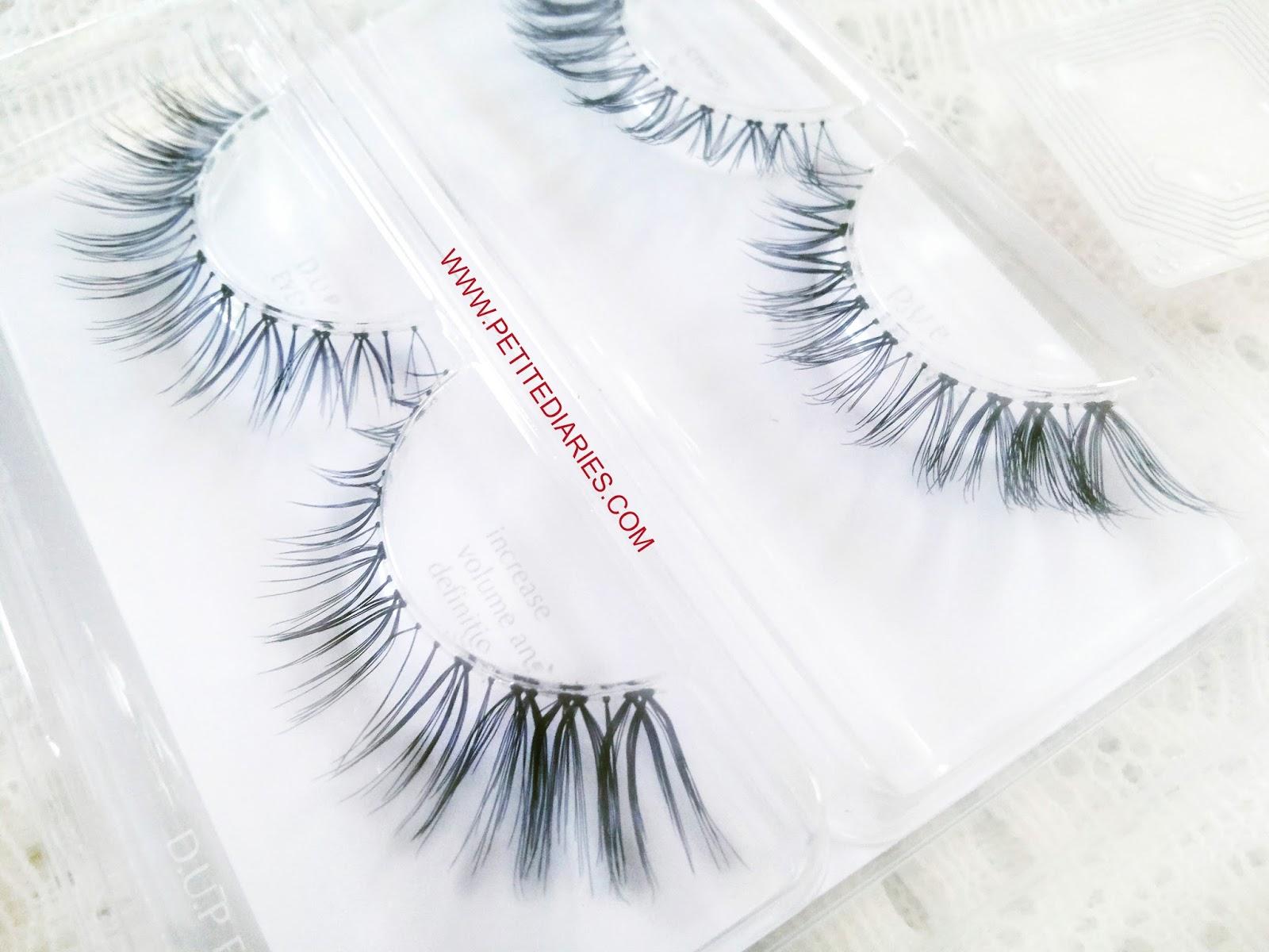 d.u.p eyelashes review
