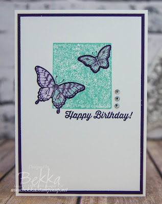 Beautiful Butterfly Birthday Card - Fast and Fabulous to make - get the supplies here