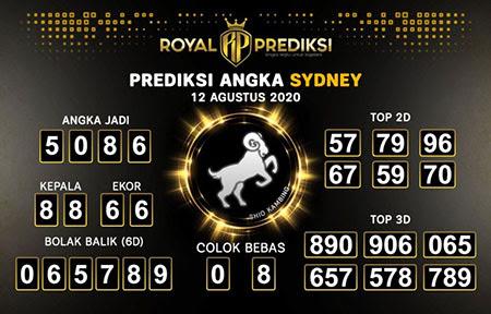 Royal Prediksi Sidney Rabu 12 Agustus 2020