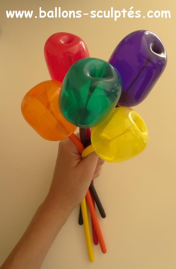 ballons fleurs