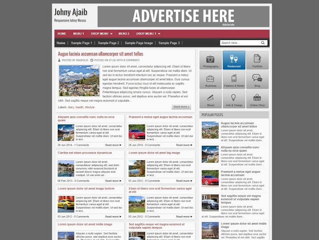 Download Template Johny Ajaib Responsive demo