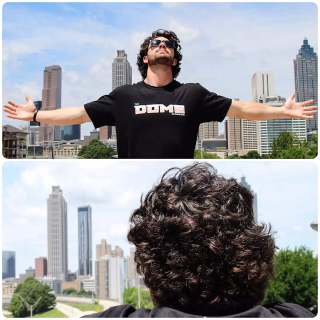 Dansby Swanson Messy Curly Hairstyle