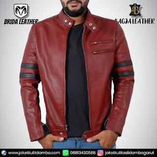 jaket kulit ramones asli