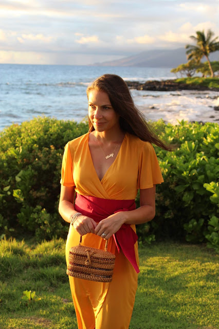 Azazie dress, yellow dress, castaner espadrilles, espadrilles, maui, hawaii