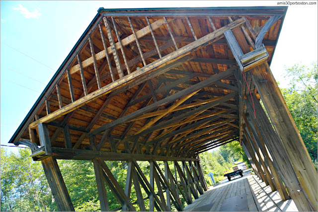 Puente Cubierto Bement Covered Bridge en New Hampshire