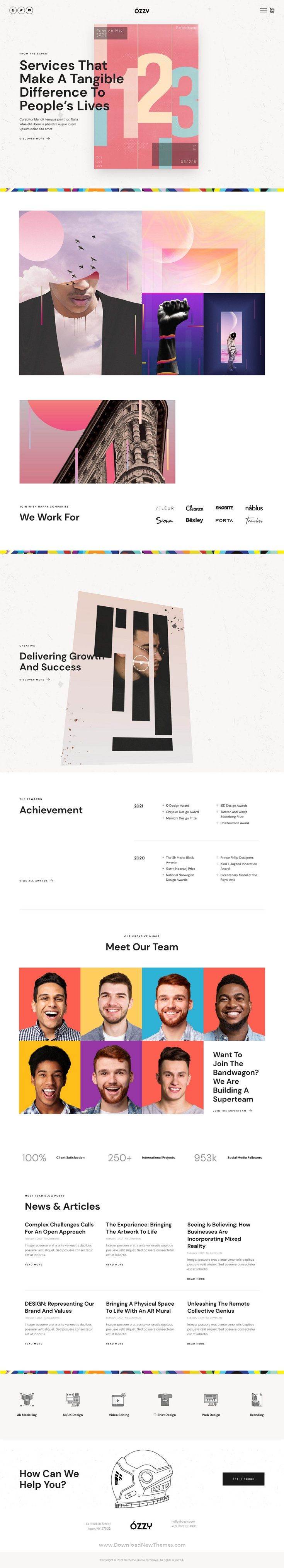 Graphic Design Firm and Agency Template Kit