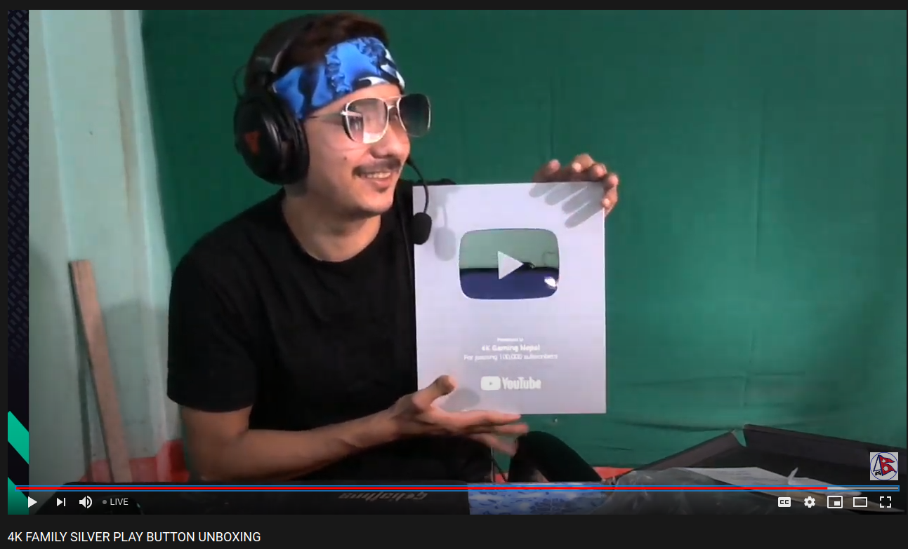 YouTube Silver Play Buttons