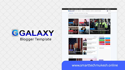 Galaxy - Premium Responsive Blogger Template
