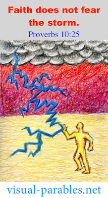 a man deflecting lightning in a storm