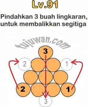 Pindahkan 3 Buah Lingkaran Untuk Membalikkan Segitiga Jawaban Brain Out di Level 91