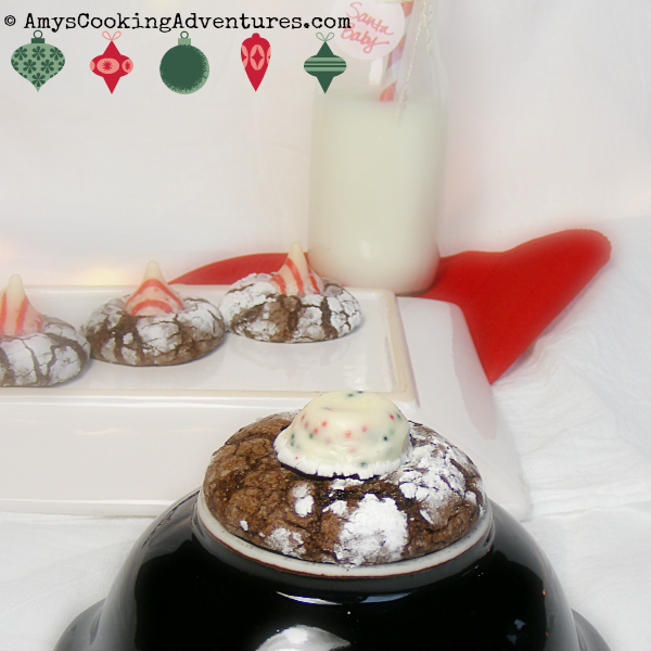 Amy S Cooking Adventures Candy Cane Brownie Crinkle Cookies