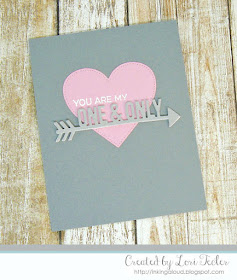 One & Only card-designed by Lori Tecler/Inking Aloud-stamps and dies from My Favorite Things
