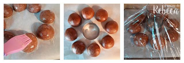 Receta de roscón de Reyes de chocolate: levado