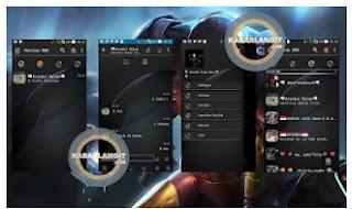 BBM Mod Dark Grey V3.0.0.18 Apk CLONE