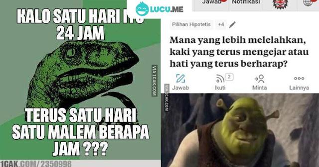10 Meme Lucu 'Pertanyaan Sepele' Ini Kocaknya Bikin Mikir Dulu