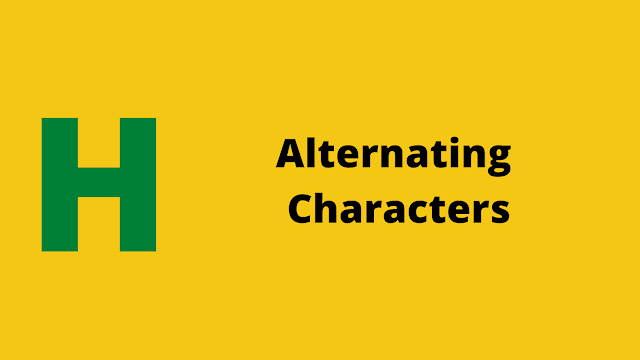HackerRank Alternating Characters Interview preparation kit solution
