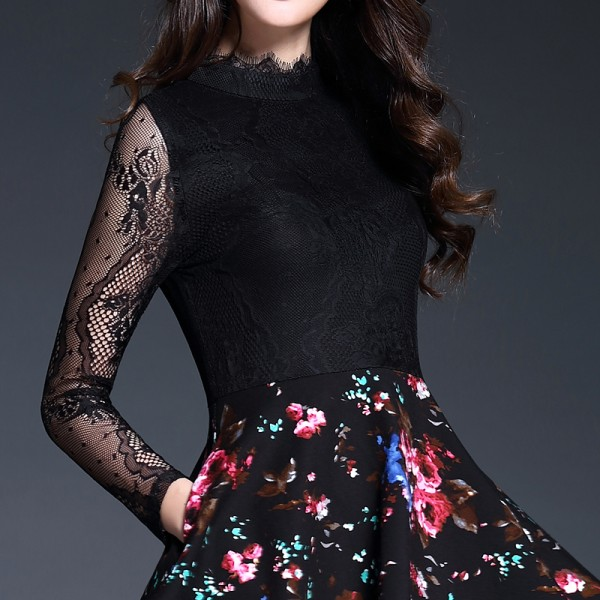 DRESS CANTIK KOREA - DRESS LACE IMPORT READY STOCK
