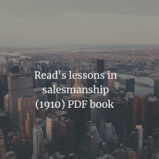 lessons in salesmanship by Harlan Eugene Read