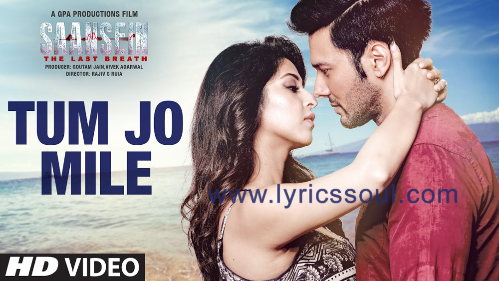 The Tum Jo Mile lyrics from 'Saansein', The song has been sung by Armaan Malik, , . featuring Rajneesh Duggal, Sonarika Bhadoria, Hiten Tejwani, Neetha Shetty. The music has been composed by Vivek Kar, , . The lyrics of Tum Jo Mile has been penned by Kumaar