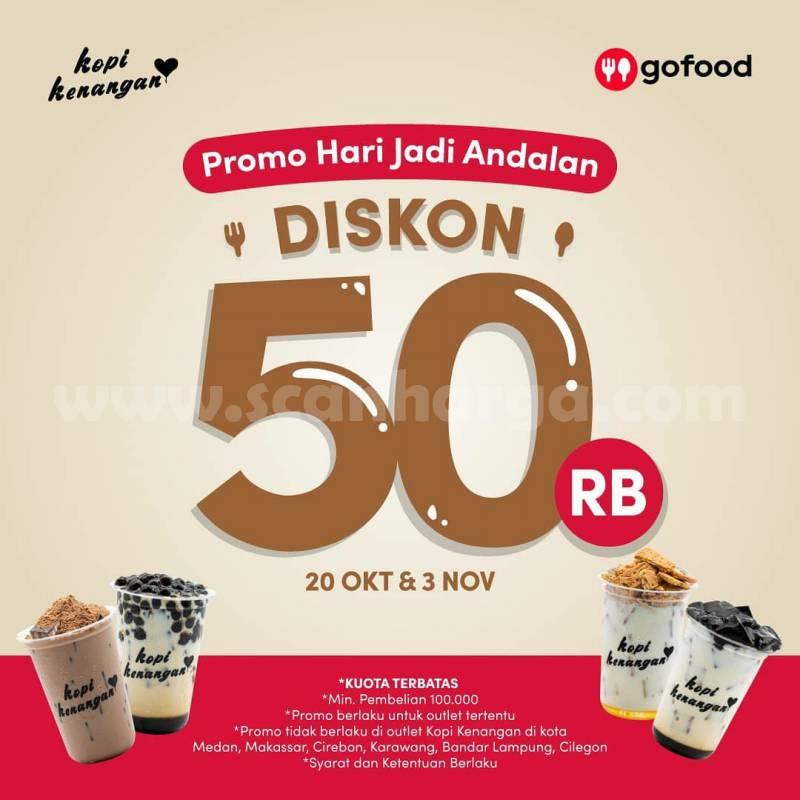 Promo Kopi Kenangan Diskon 50% Pemesanan via GOFOOD