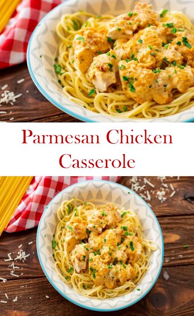Parmesan Chicken Casserole #Parmesan #Chicken #Casserole #ParmesanChickenCasserole