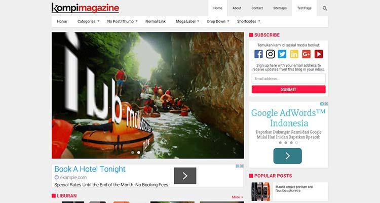 Update Kompi Magazine Premium Blogger Template V3