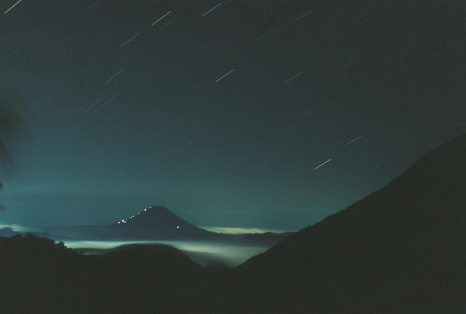 富士山 夜 星 kodak retina heligon