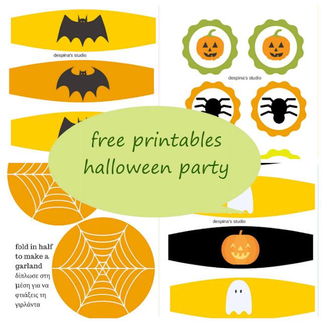 Halloween party Free Printables set