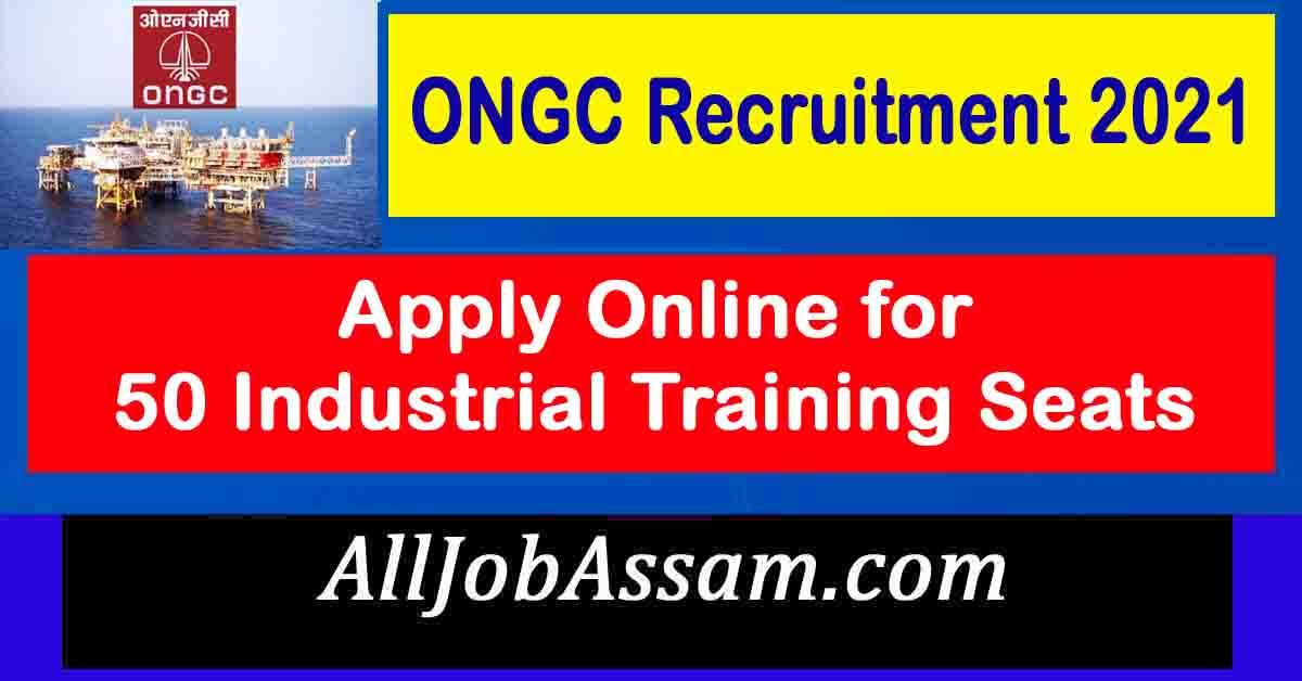 ONGC Industrial Training Jobs 2021