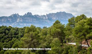 Road cycling in Montserrat (Barcelona)