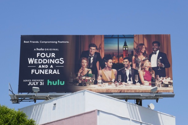 Four Weddings and Funeral TV billboard