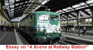 "Essay on ""A Scene at Railway Station"""