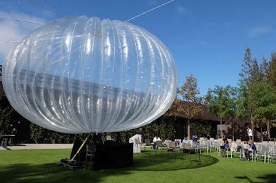 mekanisme kerja balon google, terlihat sedang di pamerkan