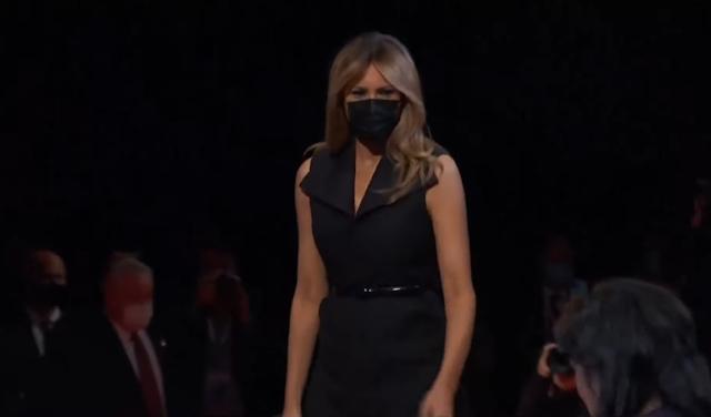 Melania Trump wearing black mask COVID-19 coronavirus