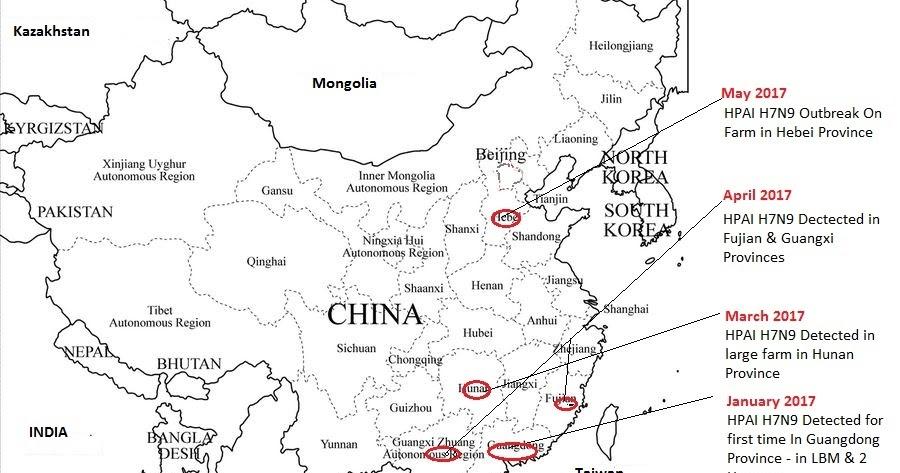 Avian Flu Diary: CHINA: HPAI H7N9 Expands Its Range