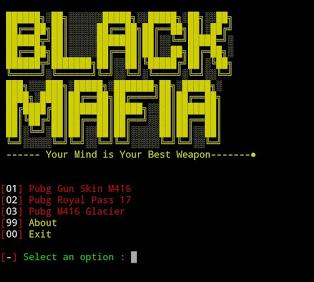 Pishing Game PUBG di Termux Black MAFIA tool