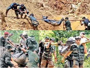 Army Soldiers in Aranayaka landslide rescue operations get sick