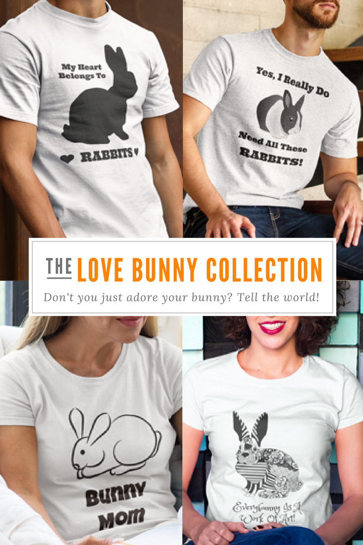 "Crazy About Your Pet Rabbit? Tell The World All About It With ""The Love Bunny Collection"" Of Designer Pet T Shirts!"