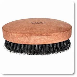 Fendrihan Genuine Boar Bristle & Pear Wood Military Hair Brush soft bristles