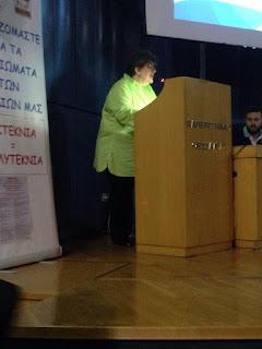 Η Πρόεδρος του τοπικού Συλλόγου Τριτέκνων κα Σούλα Βακουφτσή