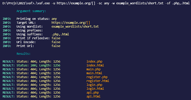 Vaf – Very Advanced (Web) Fuzzer