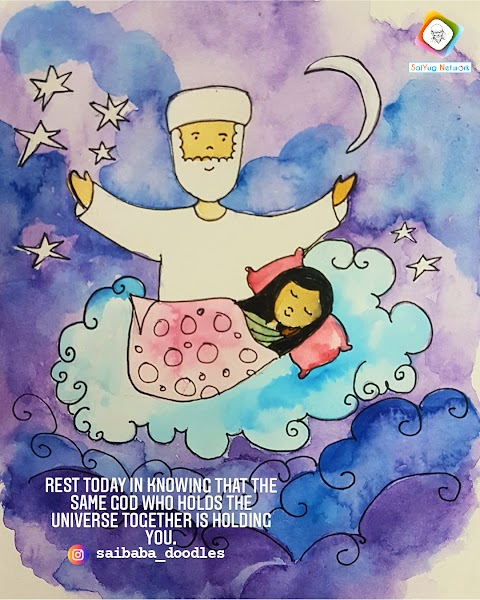 Take Rest- Sai Baba Doodle Art Showcase